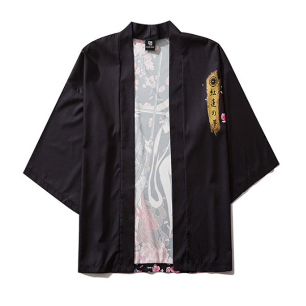 Men's Japanese 3D Printed Cloak Shirt