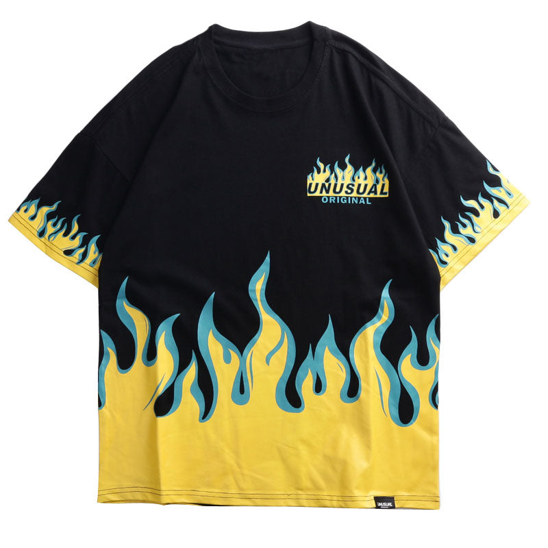 Fire Flame Printed T Shirts