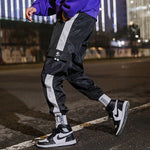 Patchwork Side Striped Straight Joggers