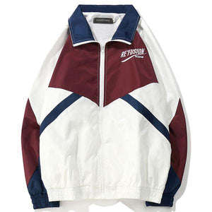 Vintage Embroidery Windbreaker Jackets