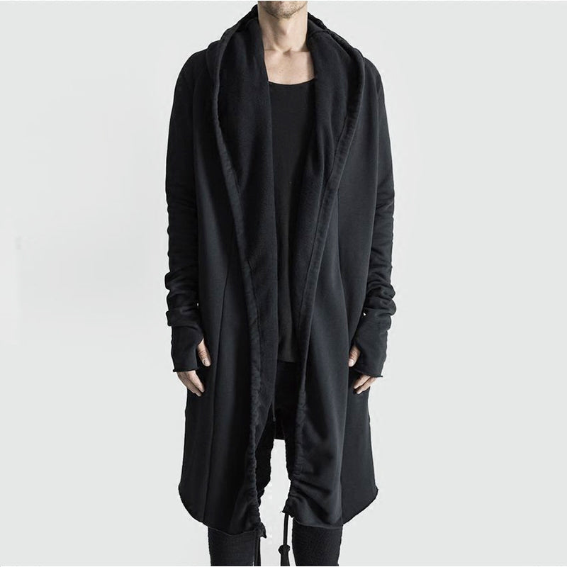 Long Black Hooded Cloak