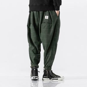 Warm Woolen Casual Plaid Harem Pant