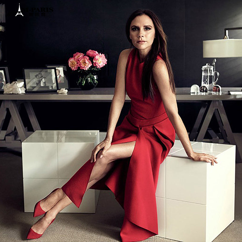 Victoria Beckham Solid Color Sleeveless Dress