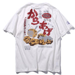 Japanese Style Patches Print Food T-Shirt