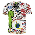 Hip Hop Graffiti Alien Short Sleeve T-Shirt