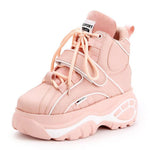 Retro High-top Height Increasing Women's Boots