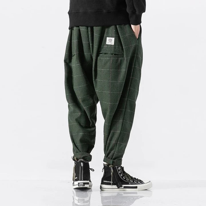 Casual Plaid Harem Pant