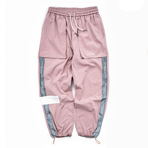Letter Embroidery Pockets Trousers