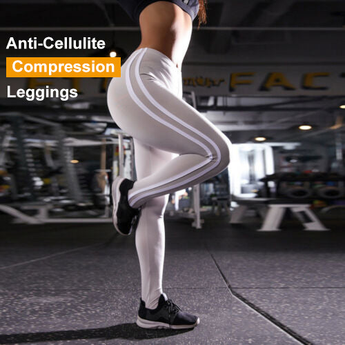 Anti-Cellulite Compression Energy Seamless Side Stripes Leggings