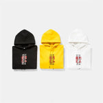 Chinese Character Printed Fleece Hoodies
