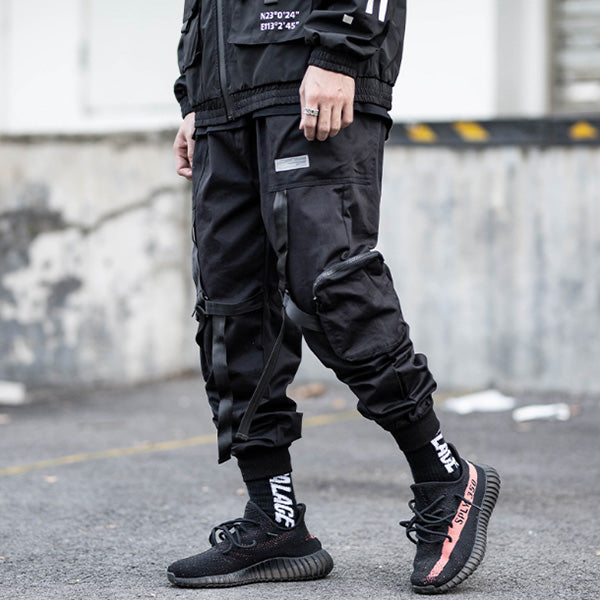 Men's Casual Streamer Functional Overalls