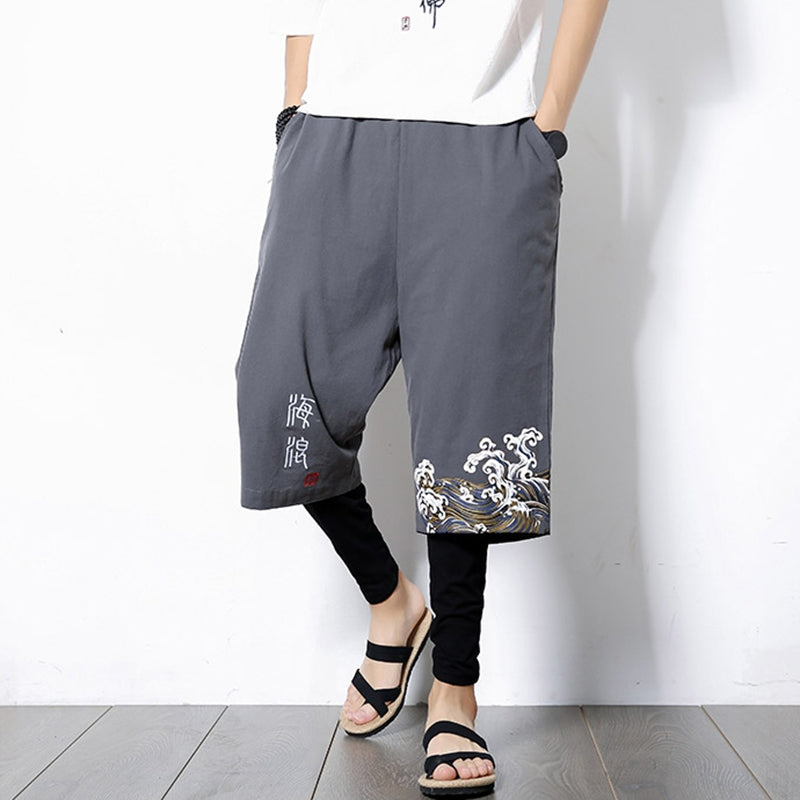 Chinese Style Men's Large Size Linen Pants