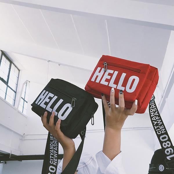 'HELLO' Clout Bag