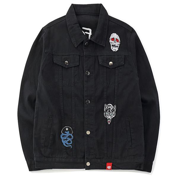Embroidery Rose Denim Jackets