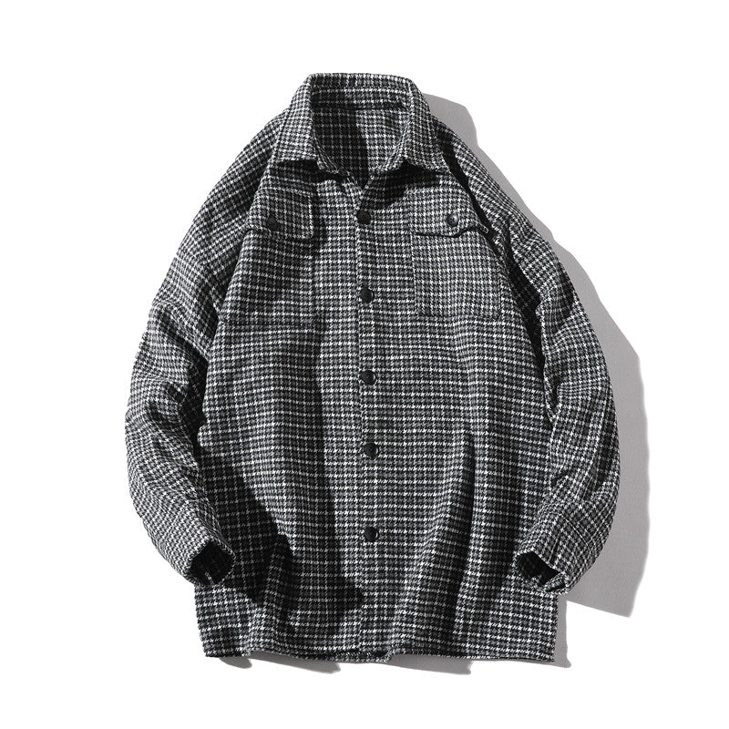 Lattice Single Breasted Shirts