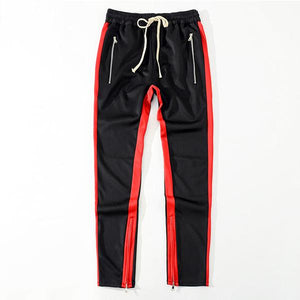 2019 Men Side Band Zipper Low Cord Pants Streetwear Jogger