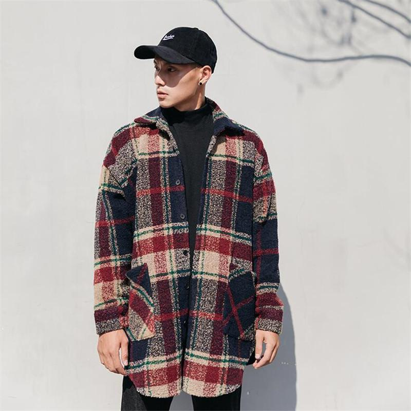 Hip Hop Casual Loose Plaid Shirt Jacket