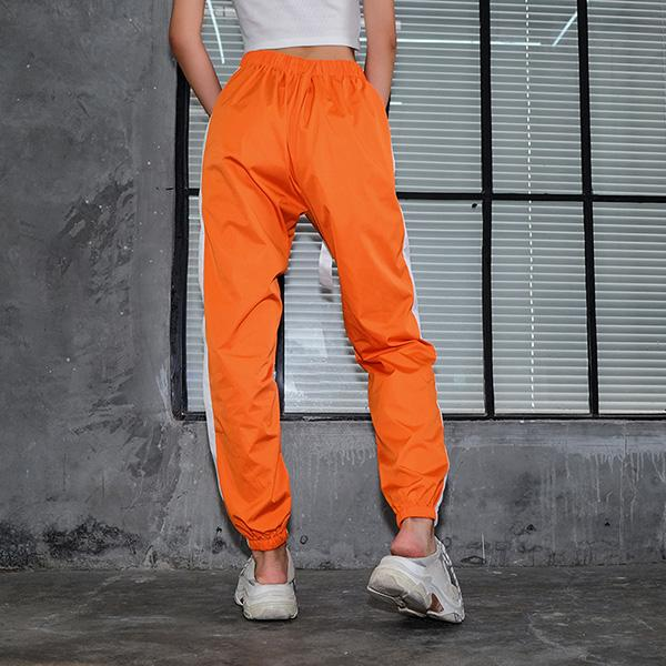 High Waist Buckle Belt Trousers