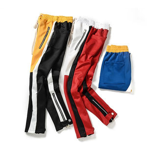 Color Block Patchwork Harem Pants