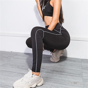 Reflective Black Leggings