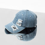 Denim holes damaged casual baseball caps
