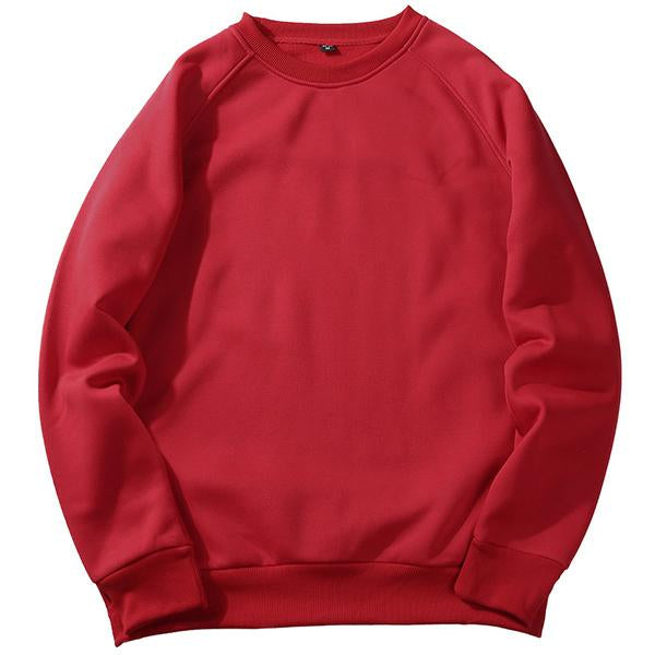 Solid Color Fleece O Neck Loose Sweatshirt(8 colors)