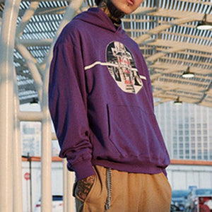 Harajuku Hoodies(Black/Pink/Purple)