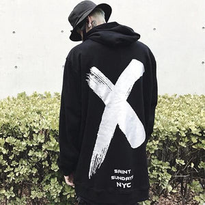 Letter X Print Cool Hoodies