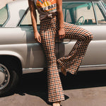 Glamaker Plaid Flare Pants