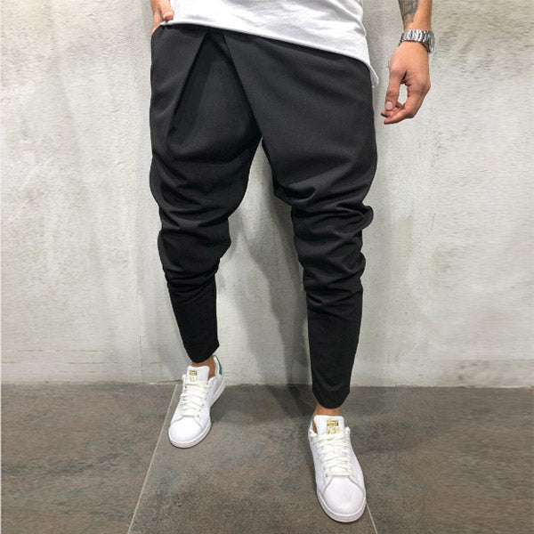 Men's casual street style drawstring harem pants