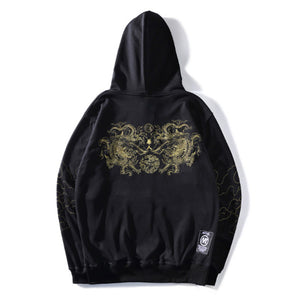 Men's Chinese Style Embroidered Loose Hoodie