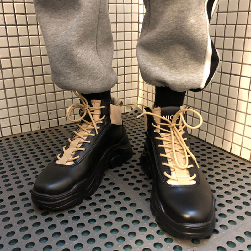 Lace-Up Casual High Platform Shoes