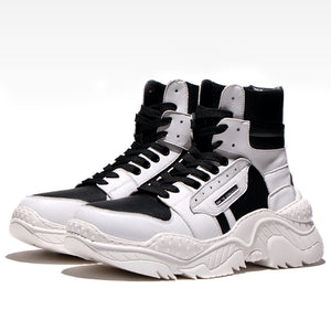 Vulcanize Lace-up High Top Shoes
