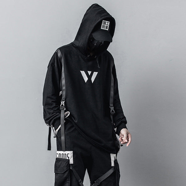 Men's Winter Detachable Pocket Padded Hoodie