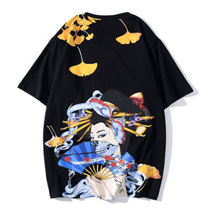 Unisex Japanese Singer Print Loose Short Sleeve T-Shirt