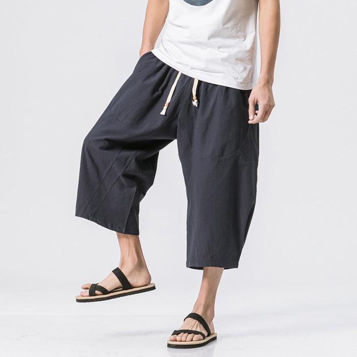 Chinese Style Linen Harem Pants