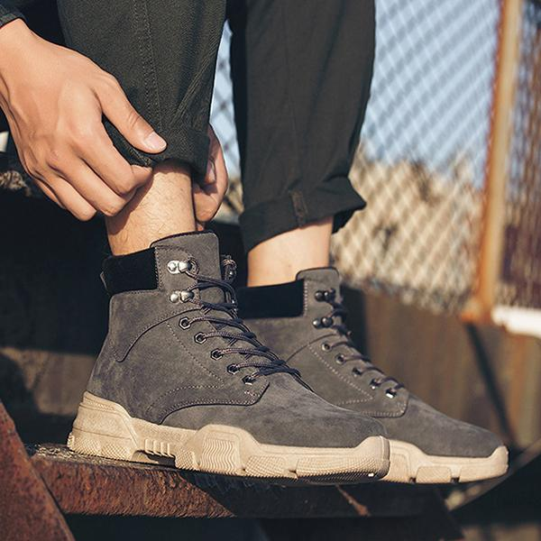 High-Top Lace Up Casual Martin Boots