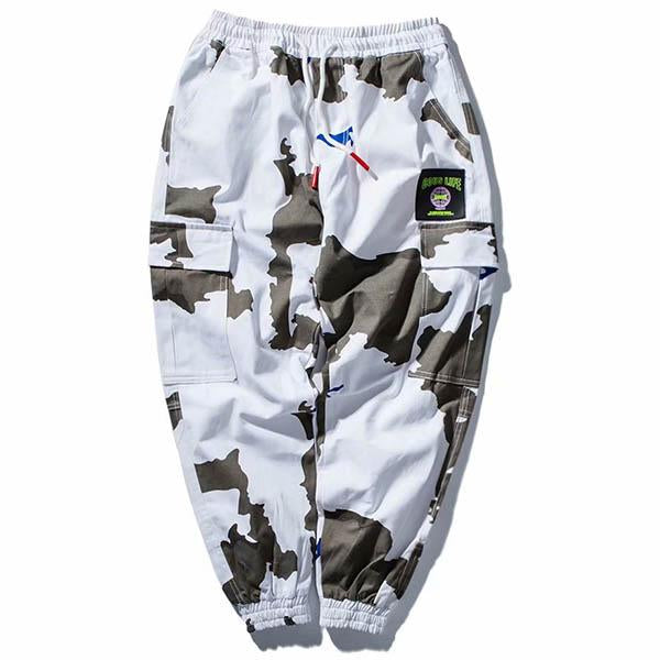 White Camouflage Cargo Pants