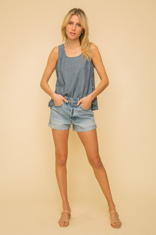 Beach day chambray tank