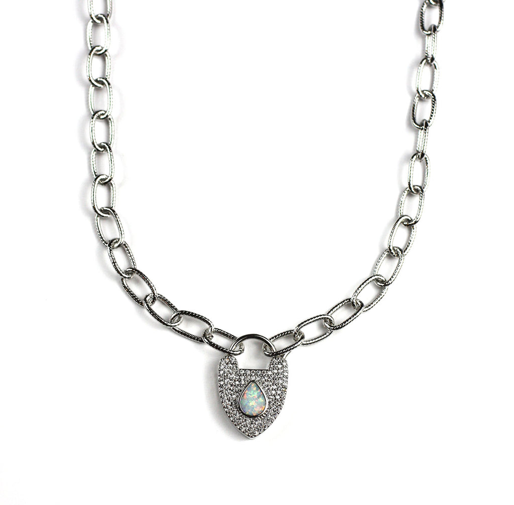 Opal Love Necklace
