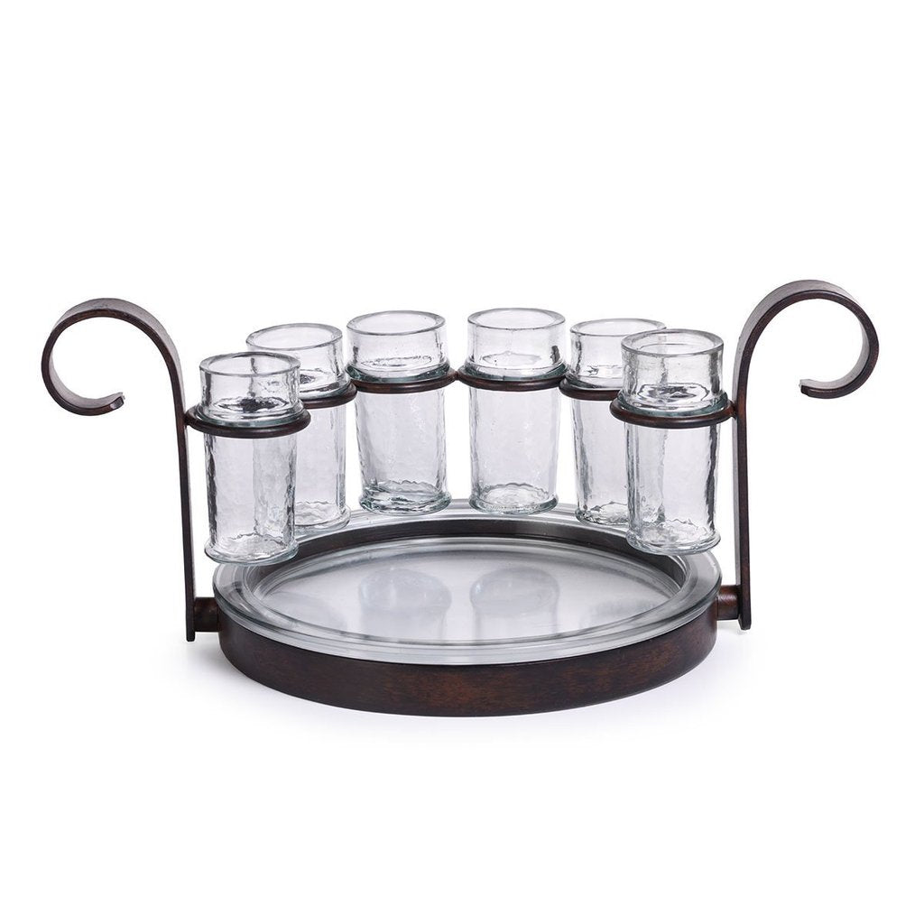 Fiesta Six Shot Tequila Set - Antique Brown