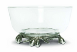 Olive Grove Glass & Pewter Bowl