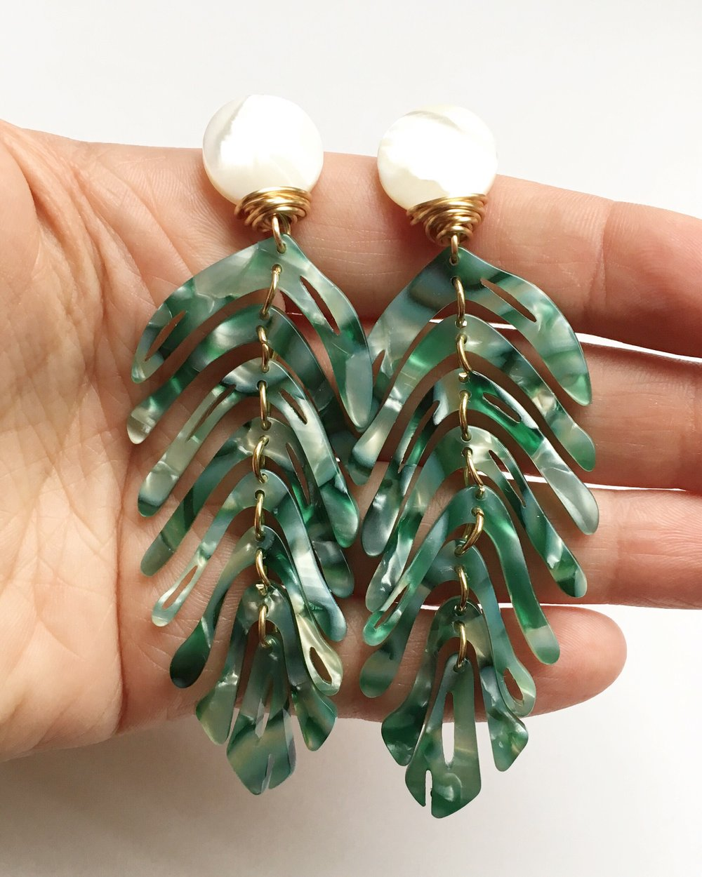 Summer Palm Earrings