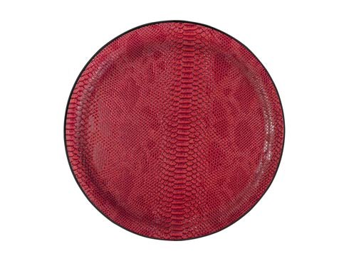 Large Round Tray, Red