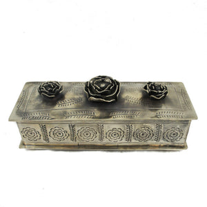 Stamped Rose Pencil Box