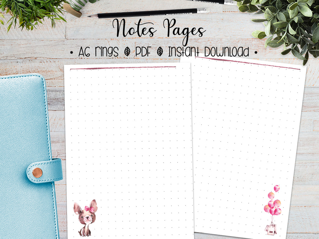 A6 Notes Pages - Parisian Chic