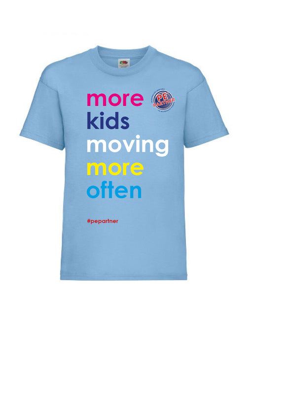 More Kids Moving Tshirt - Helping support Community sports