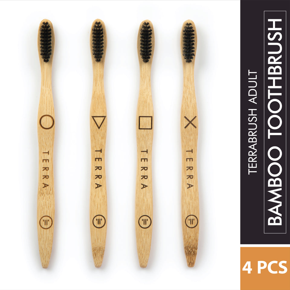Terra Bamboo Toothbrush Adult (Pack of Four)
