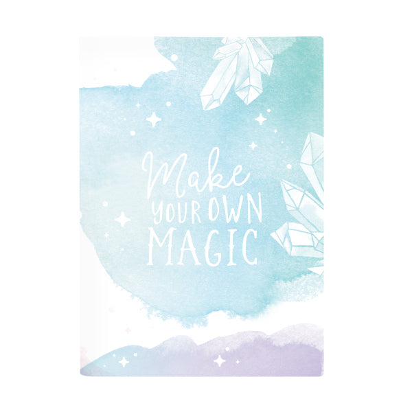 Book Cover A4 - Boho Watercolour Crystal
