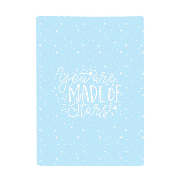 Harper Bee Book Cover A4 - Pastel Galaxy Sky Stars